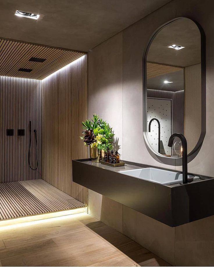 9,348 vind-ik-leuks, 73 reacties - Kari Haugsrud (@futurenordichome) op Instagram: 'Amazing modern and minimalistic bathroom Sier det igjen, treverk, fliser og marmor sammen med…'