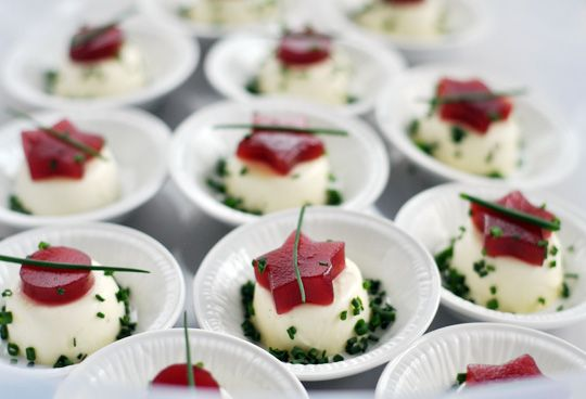 Goat cheese Panna Cotta with cutout canned cranberry jelly - festive and EASY!