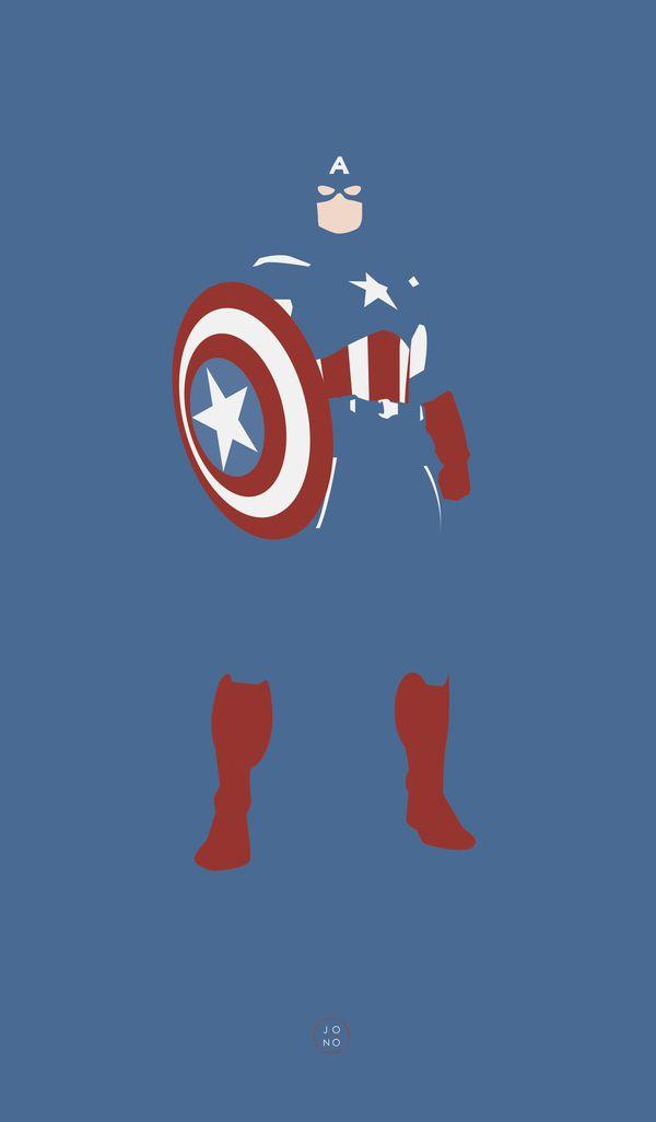 Avengers Fan Posters (Captain America) /// by Jonathan Mahoney