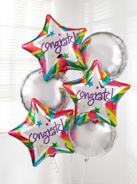 Interflora Congratulations Balloon Bouquet C02451ZF Congratulate someone with a surprise delivery of six helium-filled balloons.Our Congratulations Balloon Bouquet includes three round silver balloons and three star-shaped Congrats balloons - a gift th http://www.MightGet.com/january-2017-12/interflora-congratulations-balloon-bouquet-c02451zf.asp