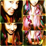 #hair #multicolor #blue #turquoise #violet #purple #magent #pink #fashion: Hair Multicolored, Amazing Hair