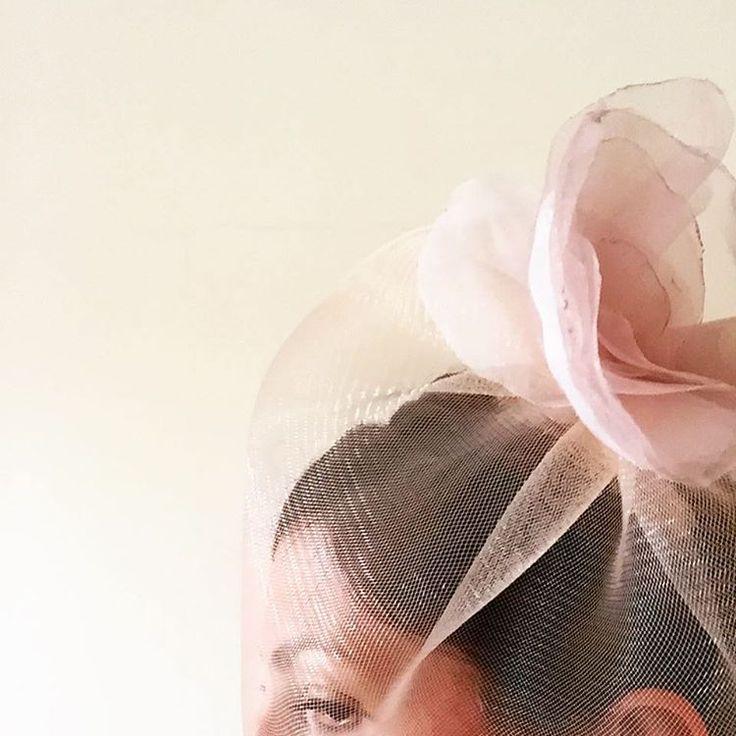 A pale #rose #pink #veil. Made of crin and organza. #handmade #weddingveil #bridalAustralia #bridal #pinkwedding #perthbride #melbourneweddings #bespoke #weddingsaustralia #love @abirdinthehair
