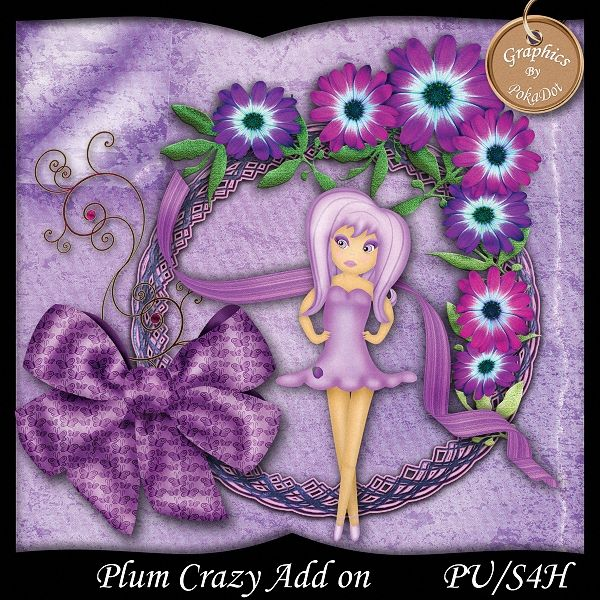 Plum Crazy Add On freebie sampler, from the Plum crazy digital scrap book kit, limited time free