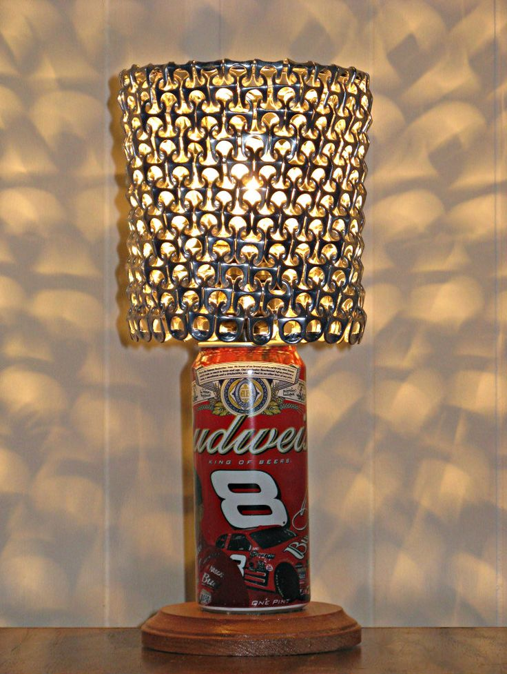 Use hashtag #saturdayrecycling for green ideas!! They could inspire someone #vintage #Budweiser #DaleEarnhardt JR Edition beer can #lamp www.etsy.com/shop/LicenseToCraft @licensetocraft #sodacantabs #cantabs #ecofriendly #handmade #DIY #art #artist #design #designer #interiordesign #greenideas #Gabriella #Ruggieri selection