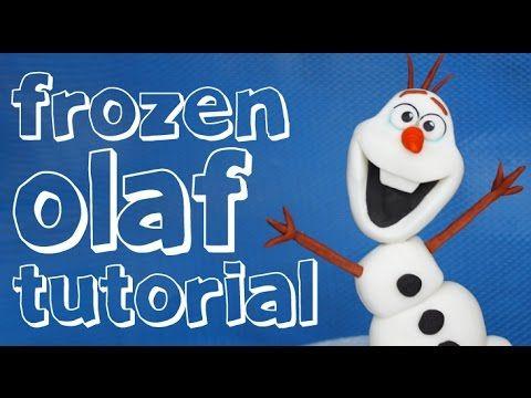 How to Make Olaf Figurine - Cake Decorating Tutorial - YouTube