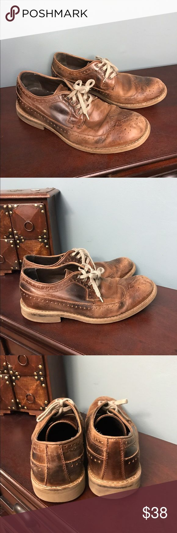 Bed Stu shoes Distressed worn leather shoes. Still smell of leather. Good quality. Lots of life left. Could use new laces. Bed Stu Shoes