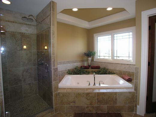 Baño De Tina Con Avena:cuarto de baño con tina
