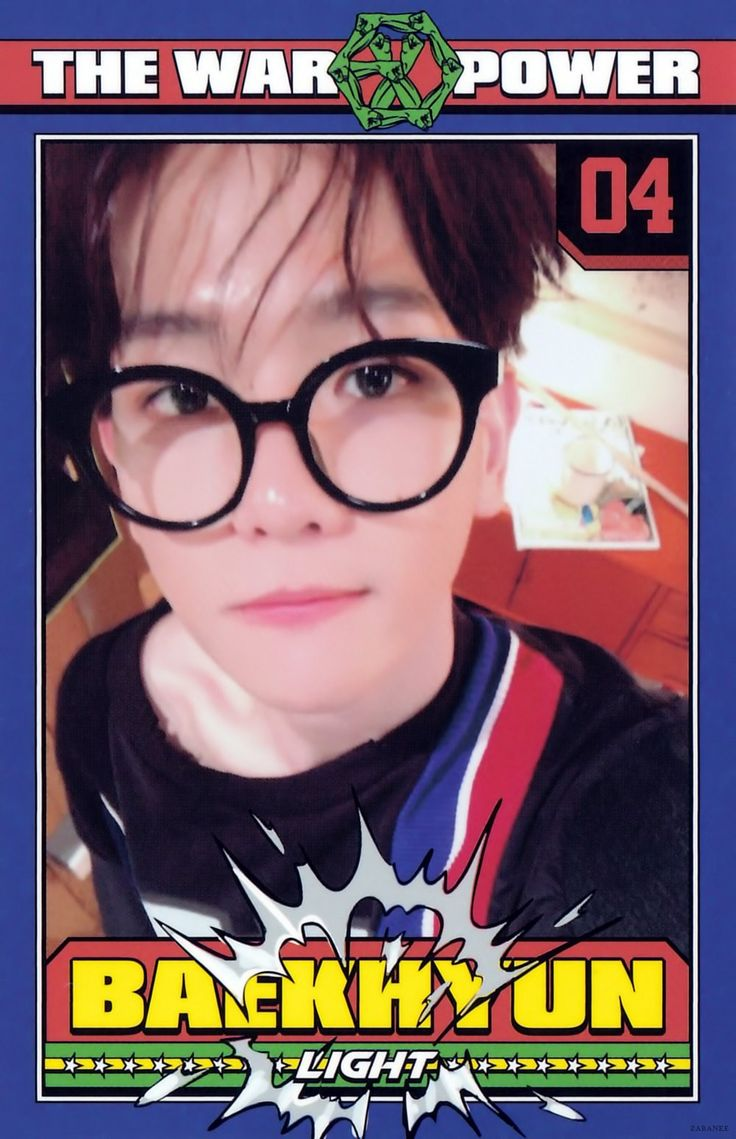 EXO • The War • The Power of music • Album's photocard (scan) • Baekhyun