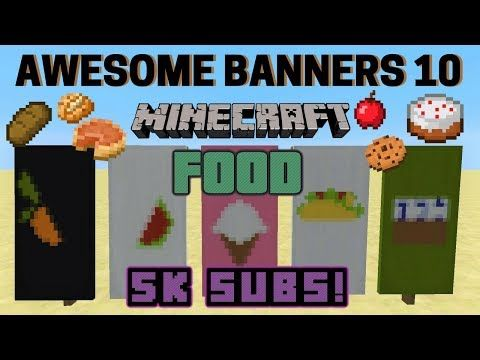 5 AWESOME MINECRAFT BANNER DESIGNS WITH TUTORIAL! #7 ✔ - YouTube