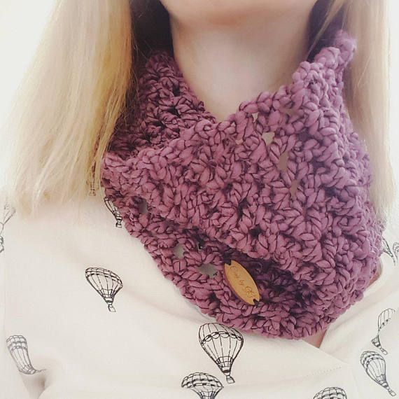 Wine Crochet Cowl. Made by Grá from Cosy By GG.