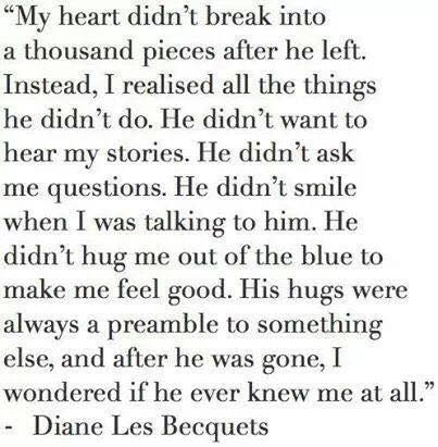 My heart didn't break into a thousand pieces after he left... (Try Everything)