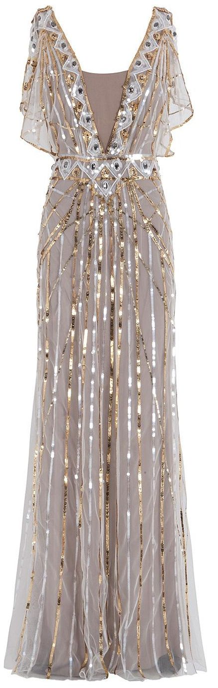 .: Temperley London, London Sequins, Clothing, Dresses, Saia Mini-Sequins, Gold Sequins, Sequins Gowns, Pretty, Art Deco