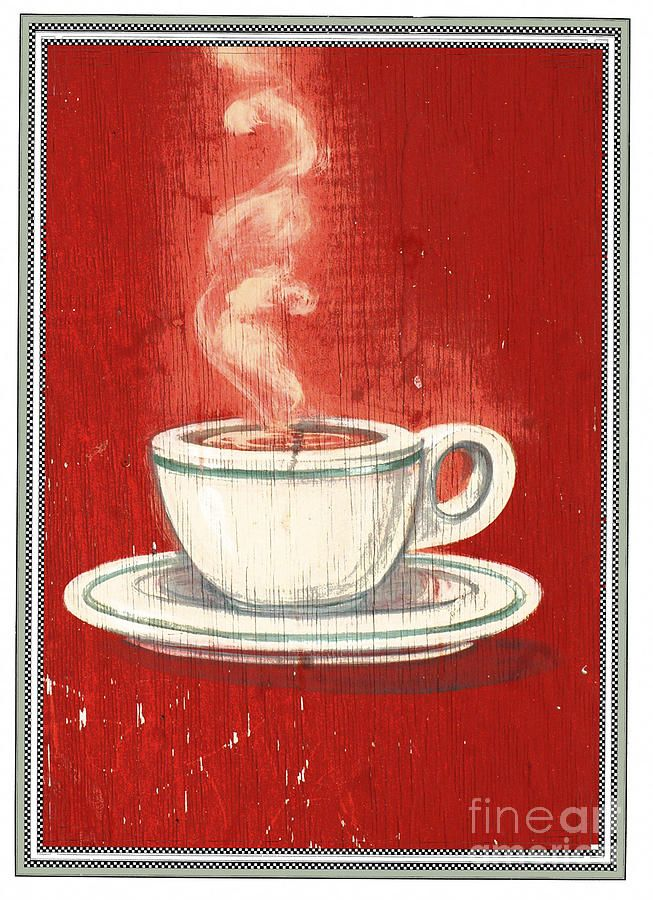 Vintage Coffee Sign Licensing Mixed Media  - Vintage Coffee Sign Licensing Fine Art Print