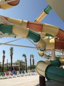 Myrtle Beach  - Crown Reef Resort which has just opened a brand-new water park with slides, pools and toddler play zones.