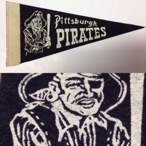 1950s-Vintage-Rare-Pittsburgh-Pirates-Baseball-Mlb-Mini-Pennant-Flag-3-5x9