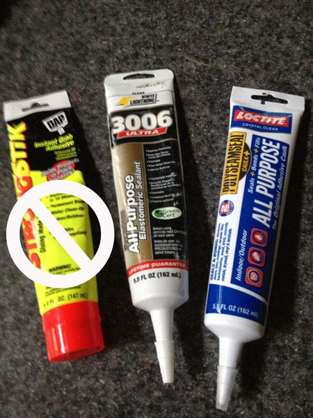 Best adhesive for garden glass totems or flowers?