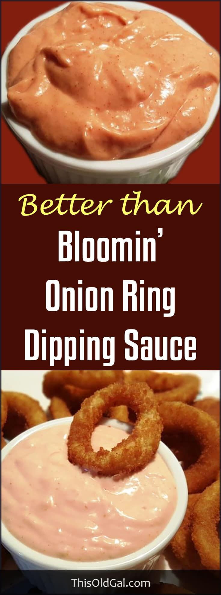 Homemade Bloomin' Onion Ring Dipping Sauce Recipe goes great with Fries, Onion Rings, Hamburgers and even on Chicken Sandwiches. via @thisoldgalcooks