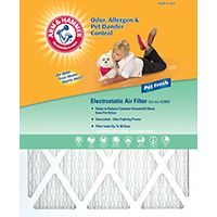 12/Pack ARM & Hammer AFAH2025 20X25X1 Odor & Allergen Reduction AIR Filters 12 Pack, Multicolor