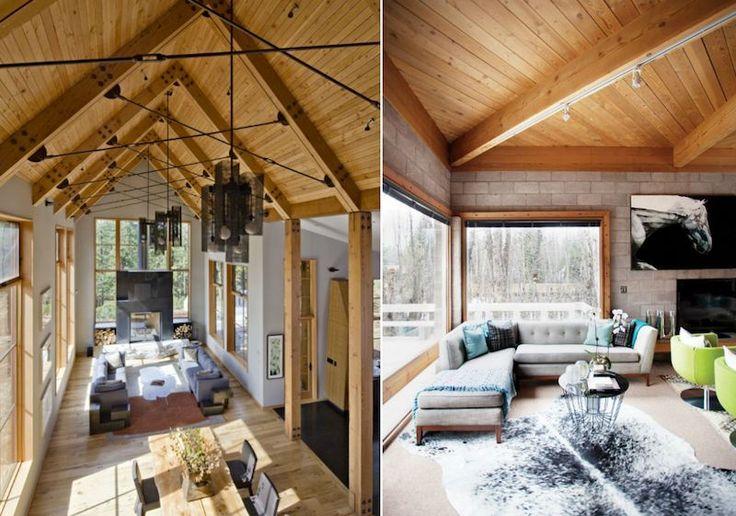17 meilleures id es propos de chalet moderne sur. Black Bedroom Furniture Sets. Home Design Ideas