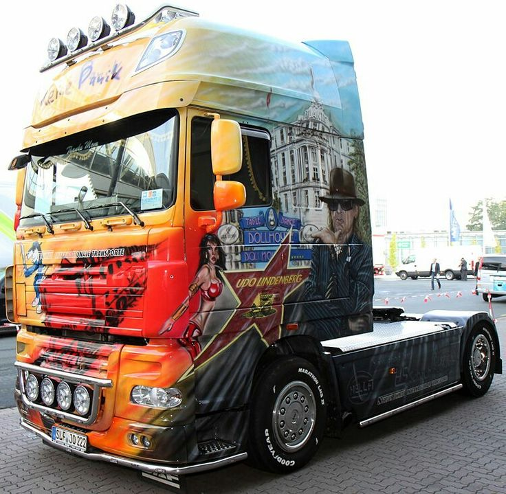 daf xf lkw truck udo lindenberg airbrush king of the road trucks lkw pinterest trucks. Black Bedroom Furniture Sets. Home Design Ideas
