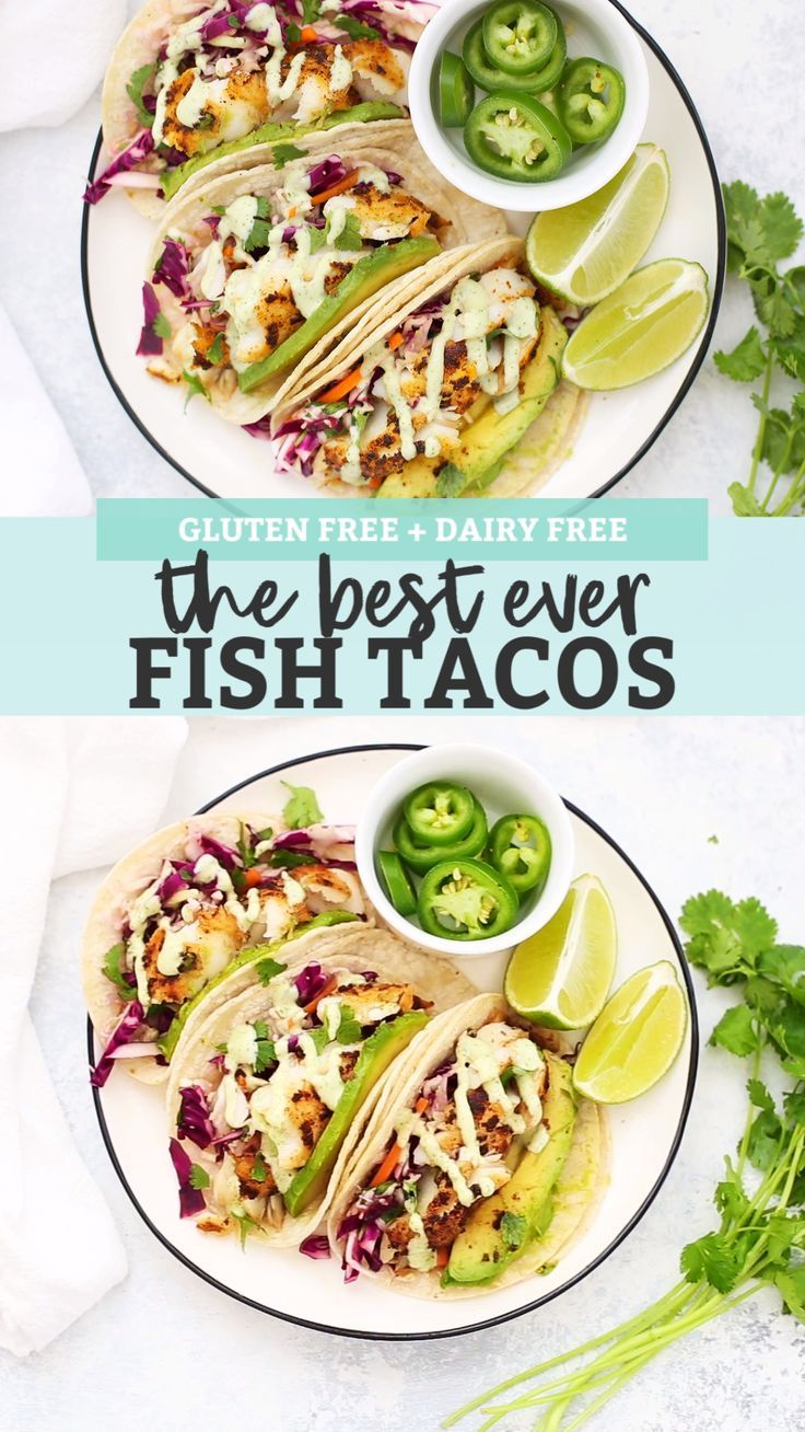 The Best Fish Tacos With Honey Lime Slaw Recipe Fish Tacos With Cabbage Slaw For Fish Tacos Recipes