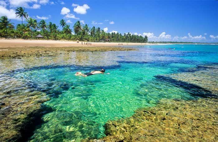 Praias Brasil. Entre Morro de São Paulo e Itacaré, apresenta 40 praias quase desertas o ano todo