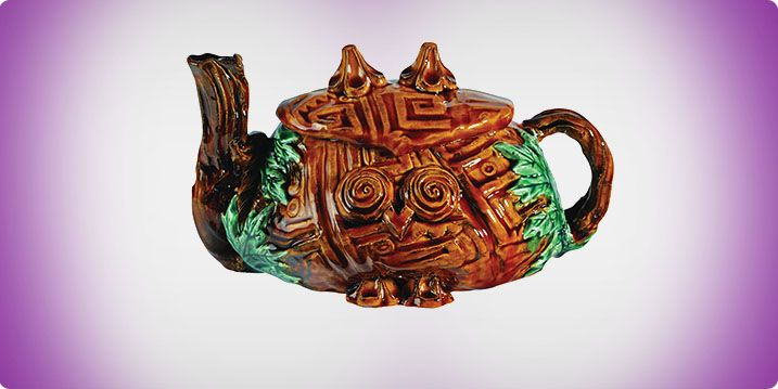 """""""Owl Textured Teapots"""" art lesson plan by Amaco for grades 8-12. In this process students will use new and assorted molds and texture plates to form and create a finished ceramic piece. The students will combine the functional elements of a traditional teapot with the form of an owl (or other chosen figure)."""