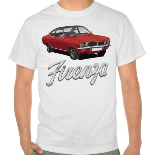 Vauxhall Firenza red, black roof with text  #vauxhall #firenza #vauxhallfirenza #automobile #tshirt #tshirts #70s #classic