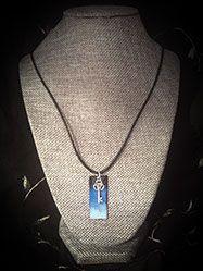 Black & Blue Pendant with Key