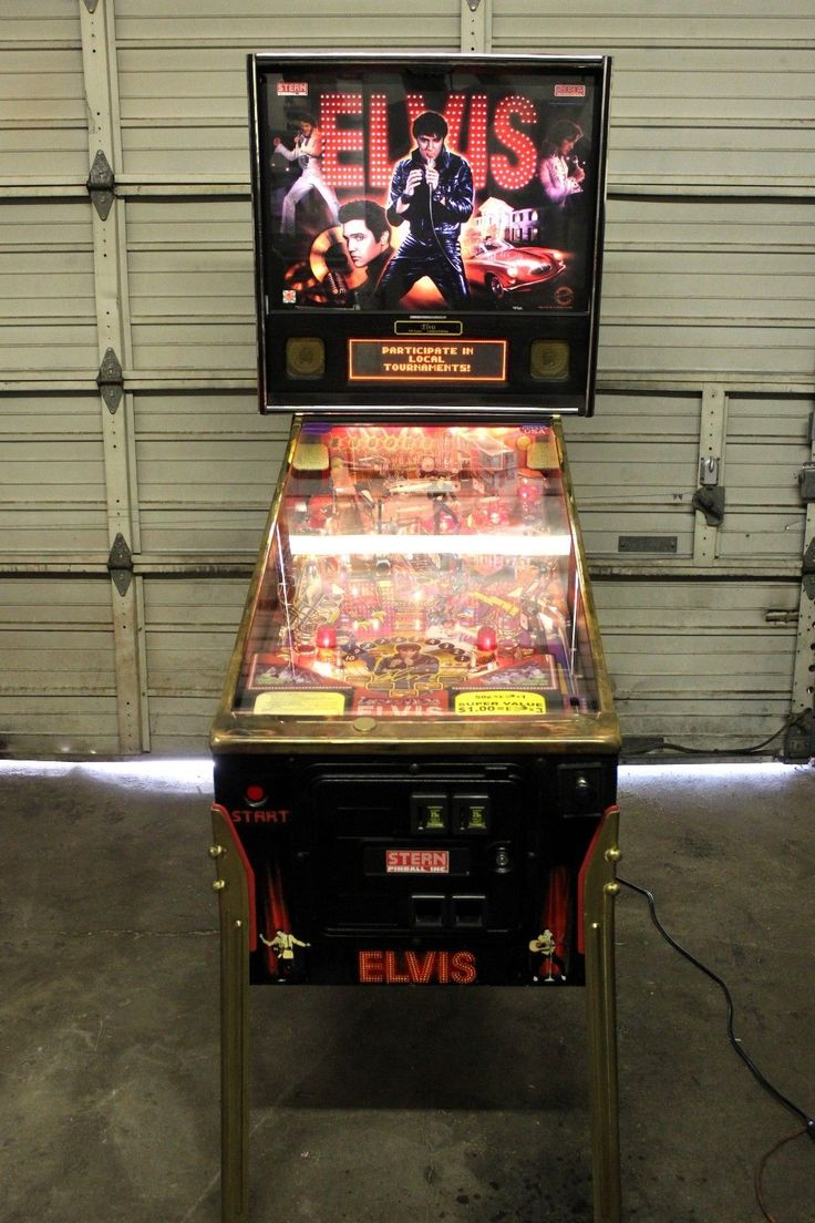 Stern Pinball Machines Elvis Gold Limited Edition 1 of 500 Original Made in USA | eBay