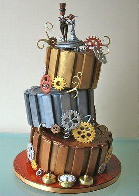 SteamPunk style Wedding Cake