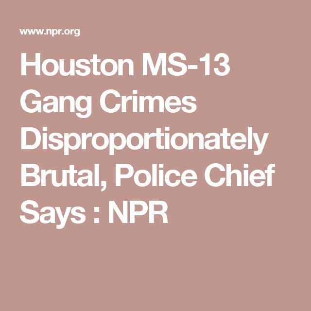 Houston MS-13 Gang Crimes Disproportionately Brutal, Police Chief Says : NPR