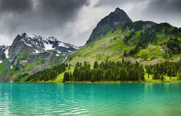 Top Multinskiye lake, Altay, Russia
