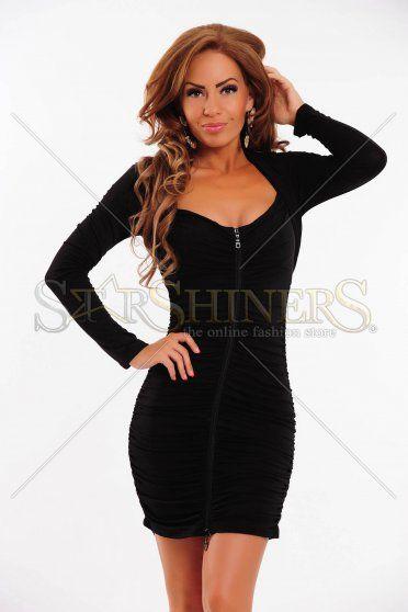 Rochie MissQ Fine Waves Black
