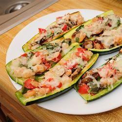Nat's Shrimp and Veggie Stuffed Zucchini Allrecipes.com