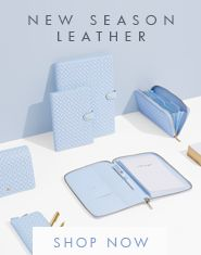 Ice Blue and Peach Leather Collection