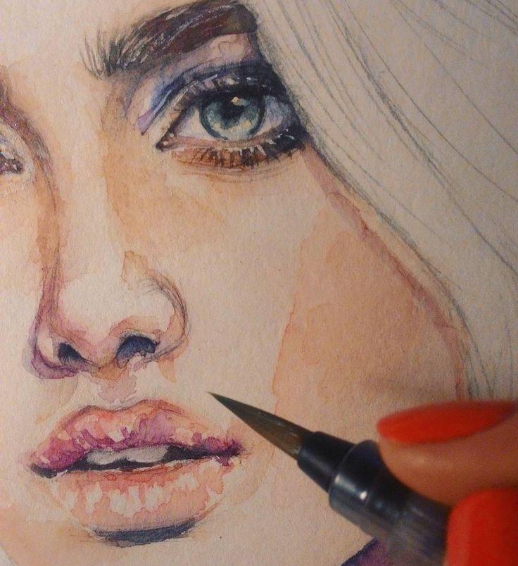 В трансляции спрашивали какая часть в работах мне нравится больше всего- губы! 😉 лучше все же наброски оставлять легкими и не прорисовывать, но тут- захотелось. Просто потому что глаза сломать можно, как люди на мелких форматах работают, боже 😱 #рисунок #живопись #скетч #портрет #drawings #painting #portrait #sketch