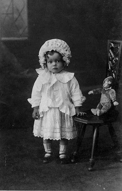 Vintage postcard girl4 by gedtee on Flickr.