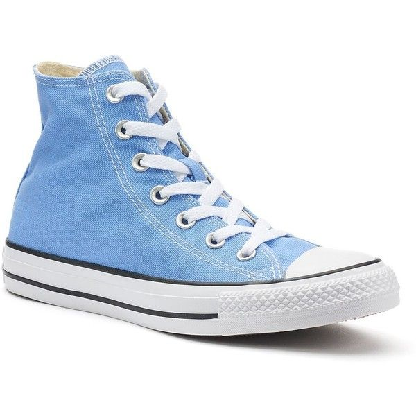 Adult Converse All Star Chuck Taylor High-Top Sneakers ($45) ❤ liked on Polyvore featuring men's fashion, men's shoes, men's sneakers, light blue, mens lace up shoes, mens sneakers, mens high top shoes, mens black hi top sneakers and converse mens shoes