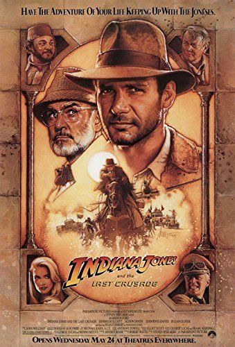 Indiana Jones And The Last Crusade - Movie Poster (Size: 27 x 40) by Poster Discount @ niftywarehouse.com #NiftyWarehouse #IndianaJones #GeorgeLucas #HarrisonFord #Movies