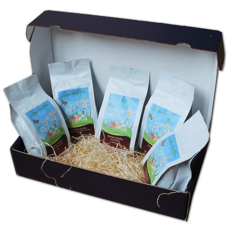 #Osterkaffee #Geschenkset – 5 x 200 g feinste Kaffeesorten als Ostergeschenk.