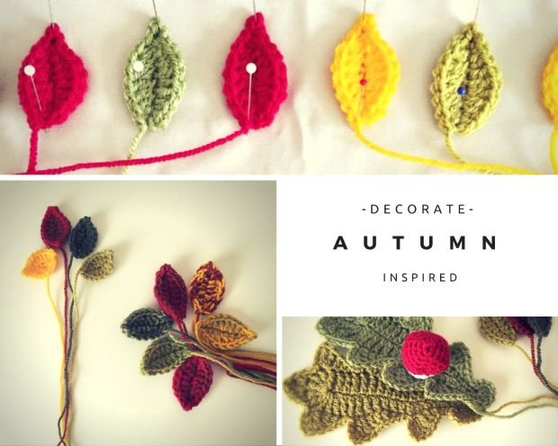Decorate in Autumn with crochet! From www.thedorsetfinca.com