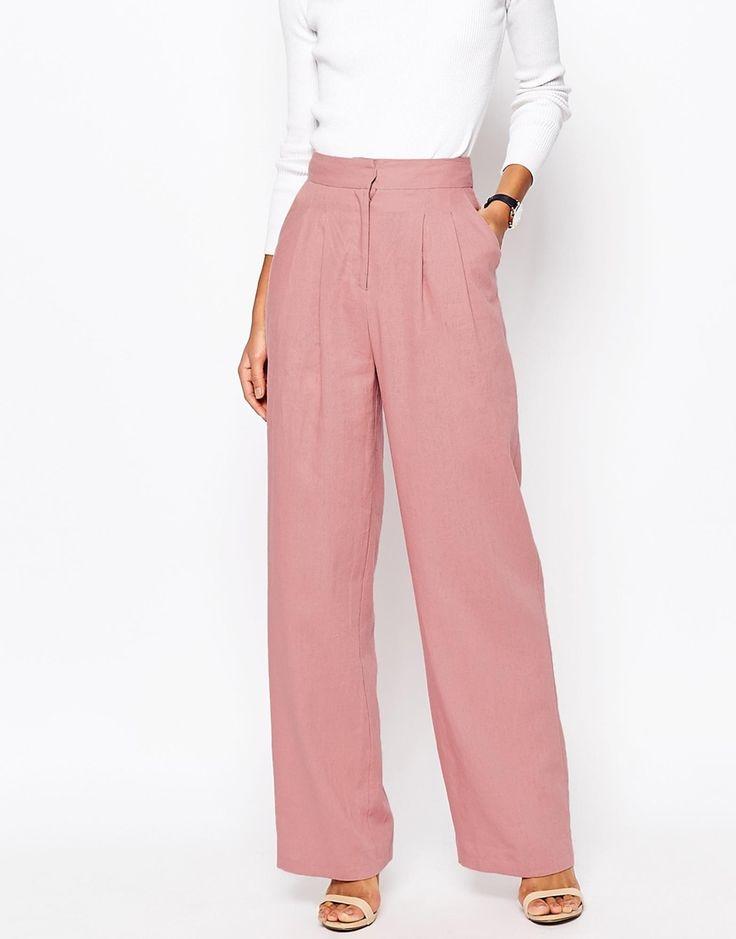 Image 4 - ASOS - Pantalon large en lin