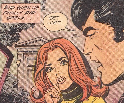 "And when he finally did Speak.....""Het Lost"", Whaaaaaaa!! funny vintage Comic Book Art."
