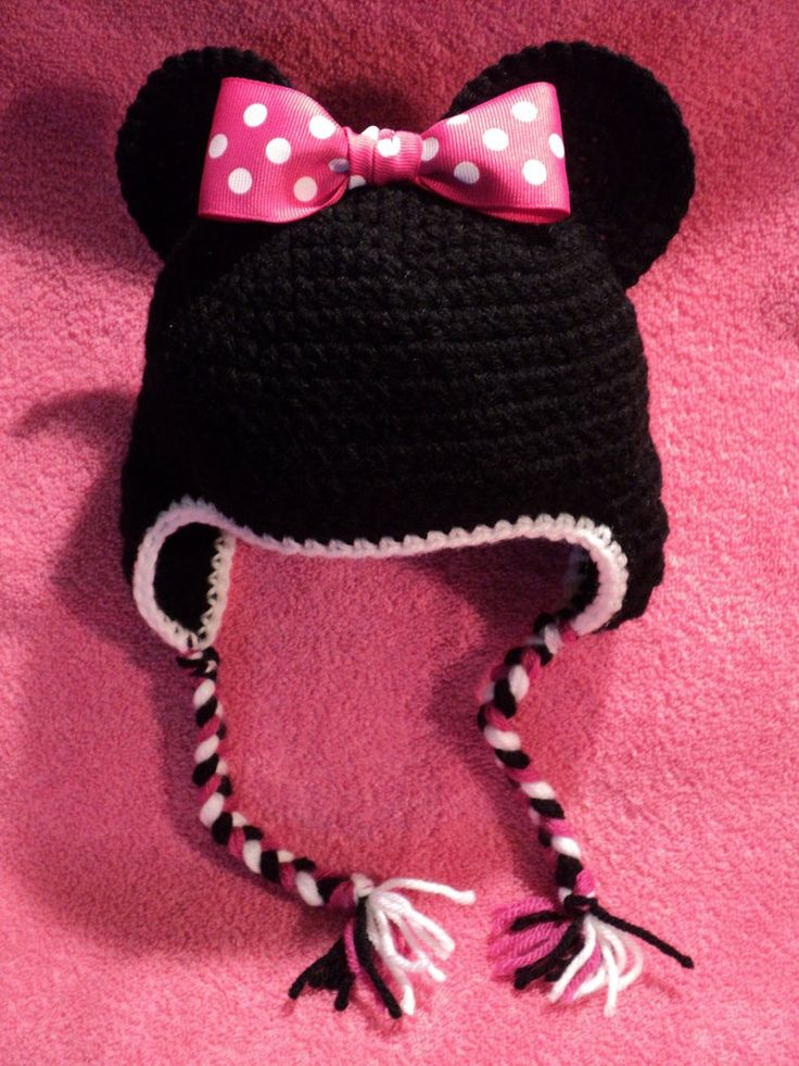 Knitted Minnie Mouse Hat Pattern : 66 best images about Hats on Pinterest Crochet cupcake hat, Crochet mickey ...