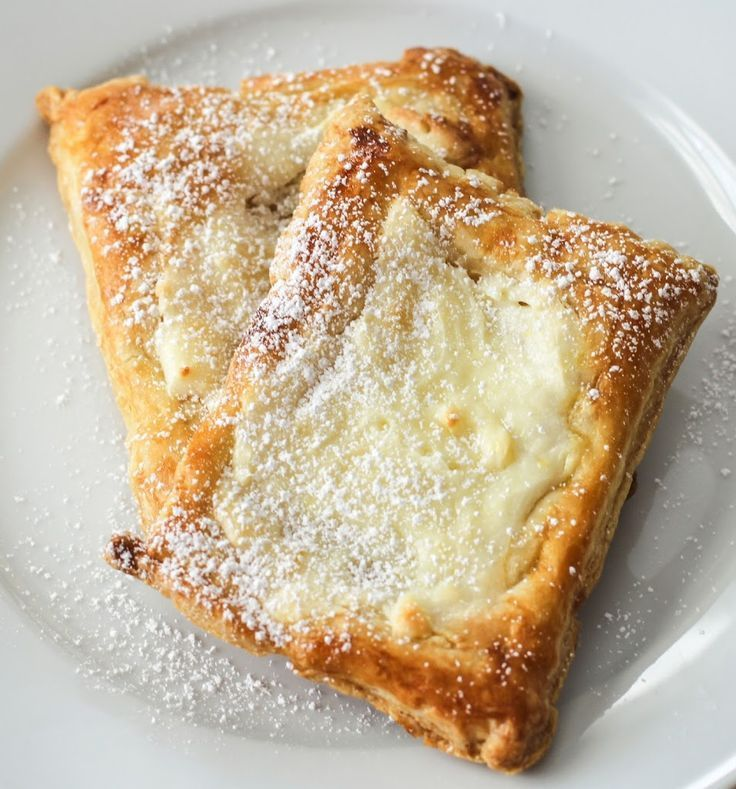 These cheese danishes are super easy to make with pre-made puff pastry! from www.girlgonegourmet.com