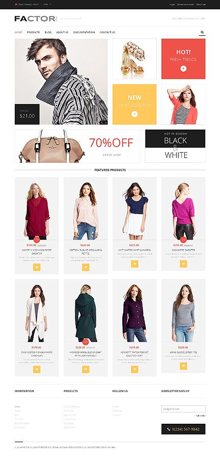 Template 50626 - Clothes Store Responsive Shopify  Theme