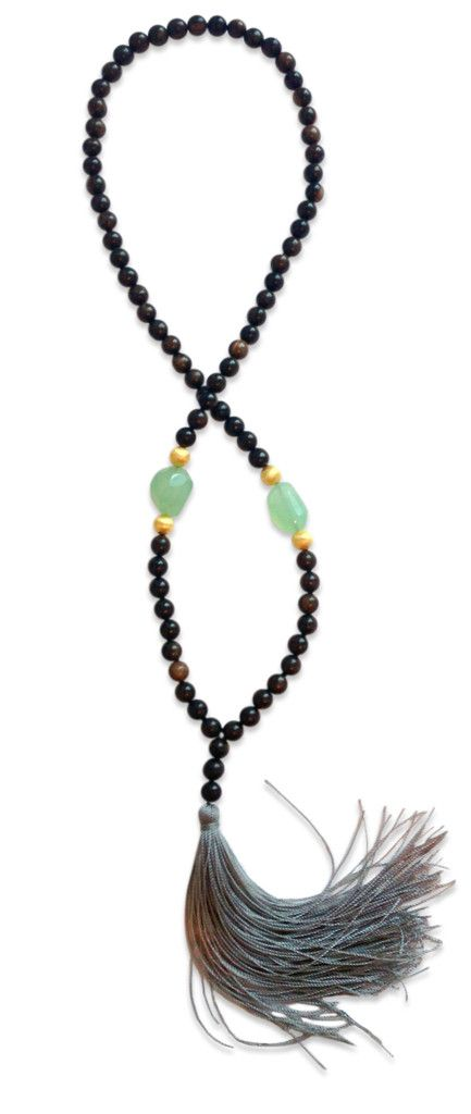 Aqua Tassel Necklace