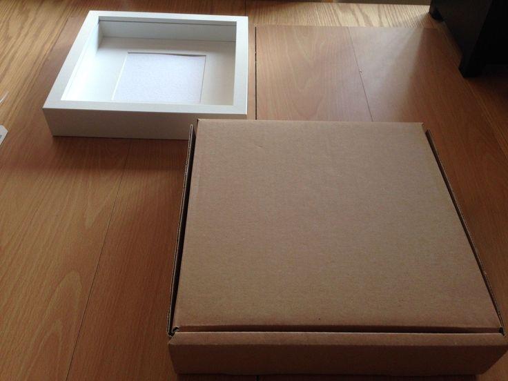25 x 25 x 4 5cm Cardboard Packaging Postal Box for IKEA Deep Picture Frame Etc | eBay