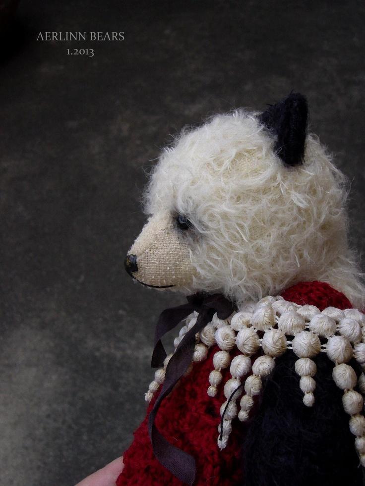 """Aerlinn Bears 9 1/2"""" Panda Style Girl Bear available on Etsy"""